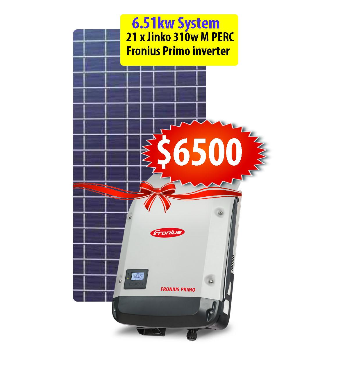 6 51kw Premium Solar System using Jinko 310w Mono Perc